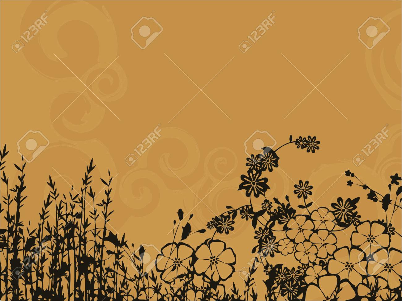 twirl background with flower bouquet (vector eps format) Stock Vector - 937258