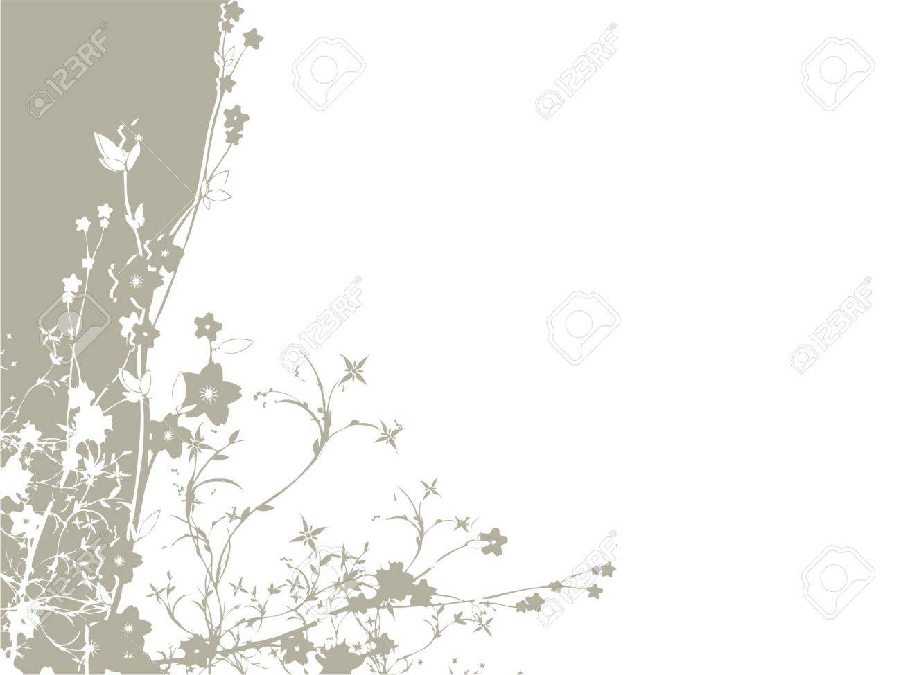 floral background with flower bouquet (vector format) Stock Vector - 1029219