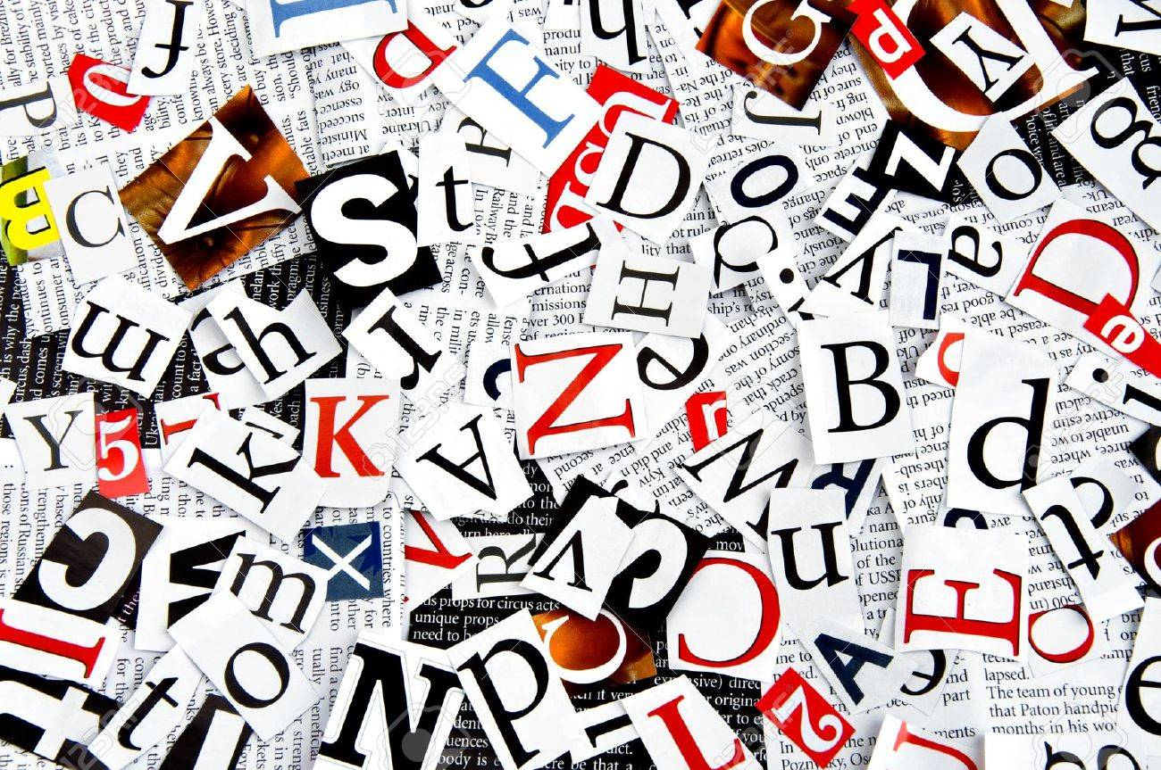 letters cut from newspaper, background Stock Photo - 10025437