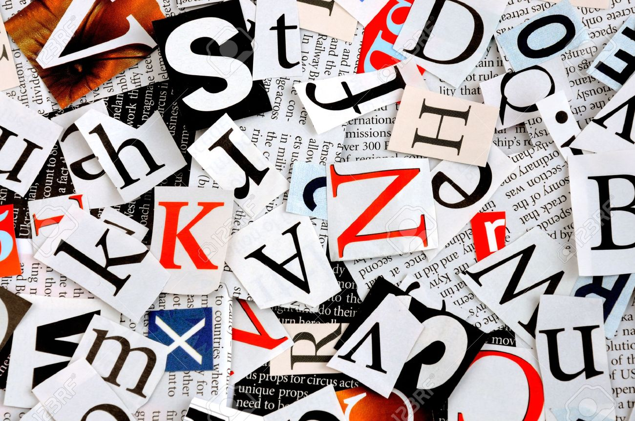 letters cut from newspaper, background Stock Photo - 10043395