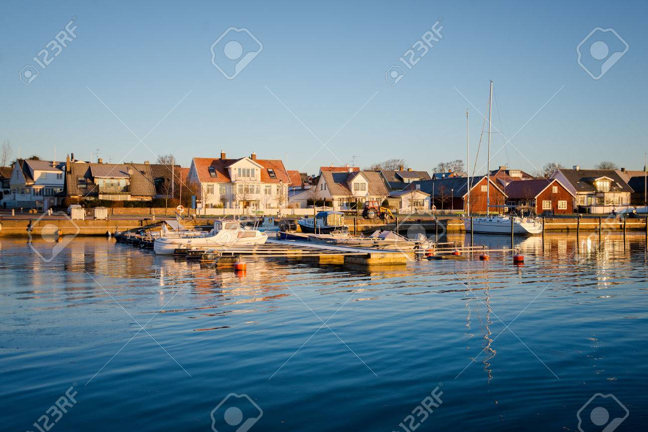 Beautiful Harbor In The Swedish City Viken Stock Photo Picture And Royalty Free Image Image 41928264