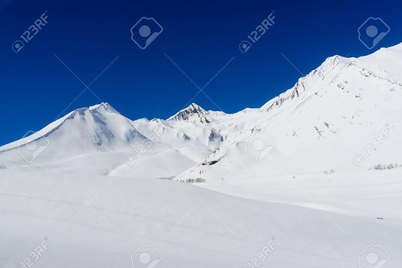 gudauri ski resort in georgia stock photo, picture and royalty free
