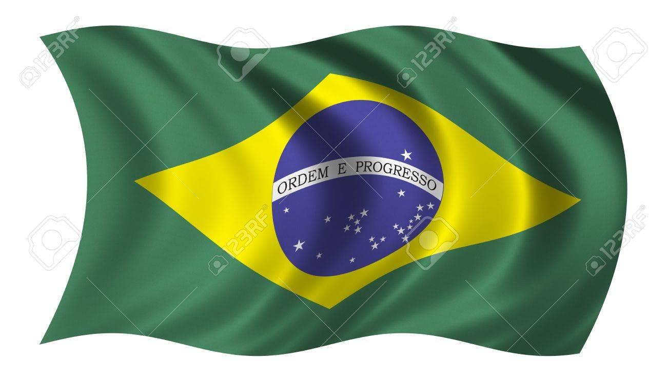 Bandera de Brasil  Foto de archivo - 231705