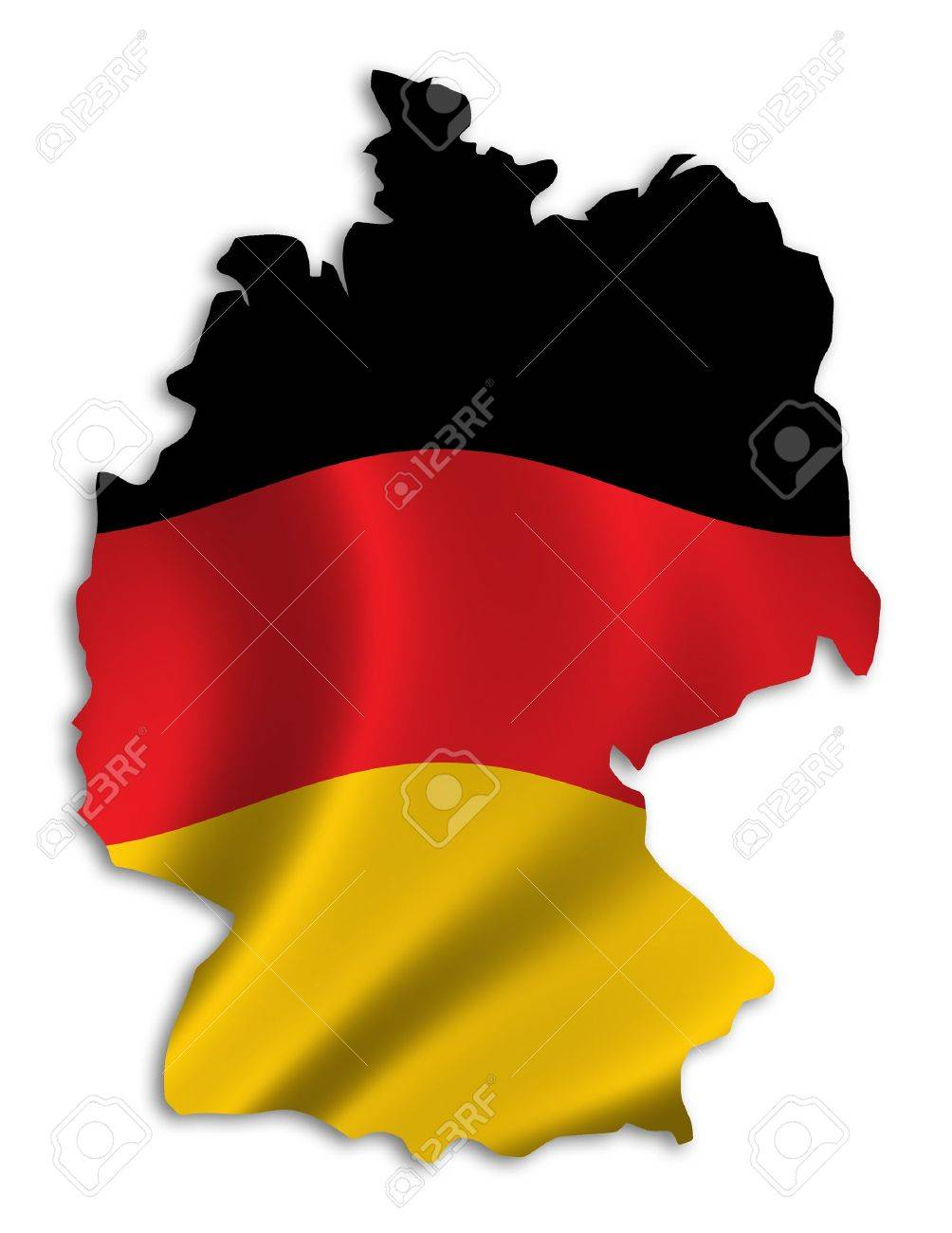 outline of germany filled with german flag stock photo picture