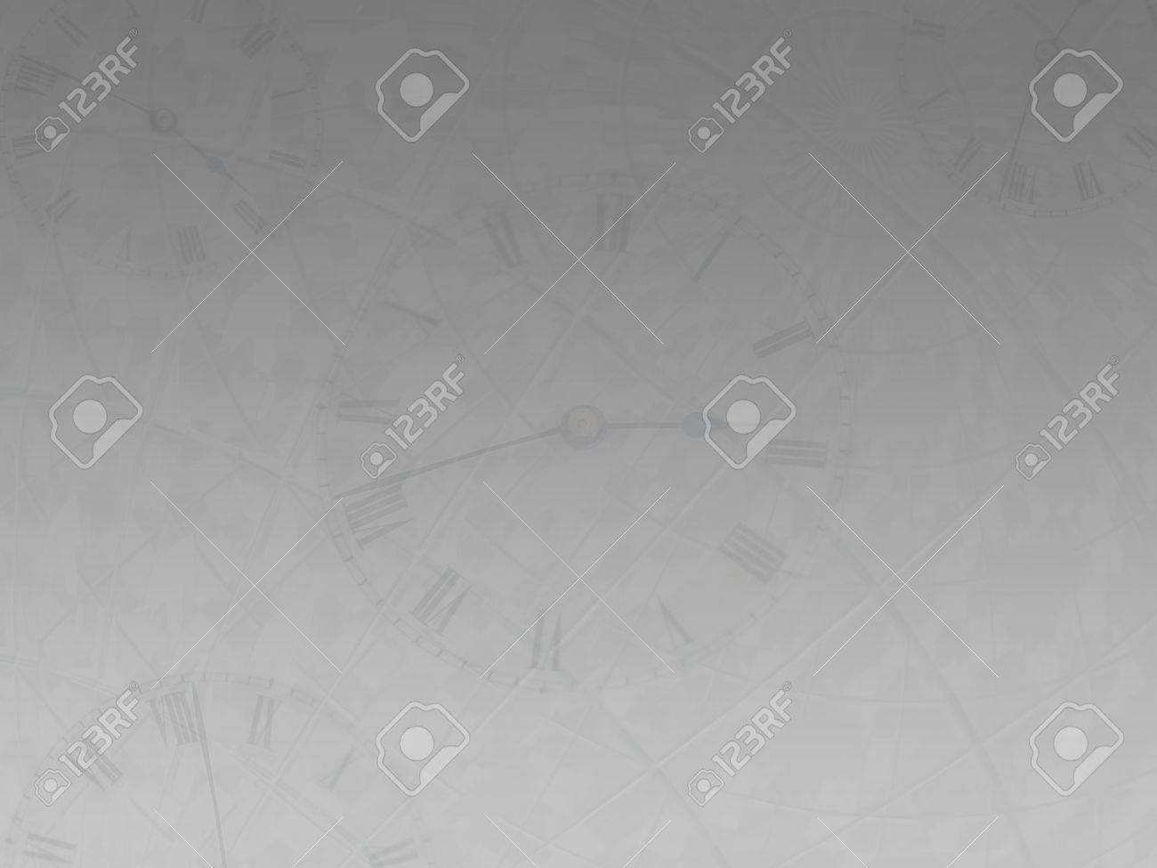 Time background in gray with transparent clocks Stock Photo - 304689