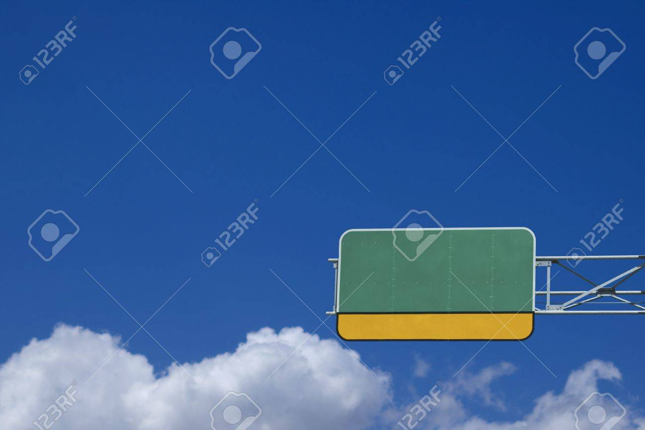Blank Highway Sign - empty space for custom content Stock Photo - 886721