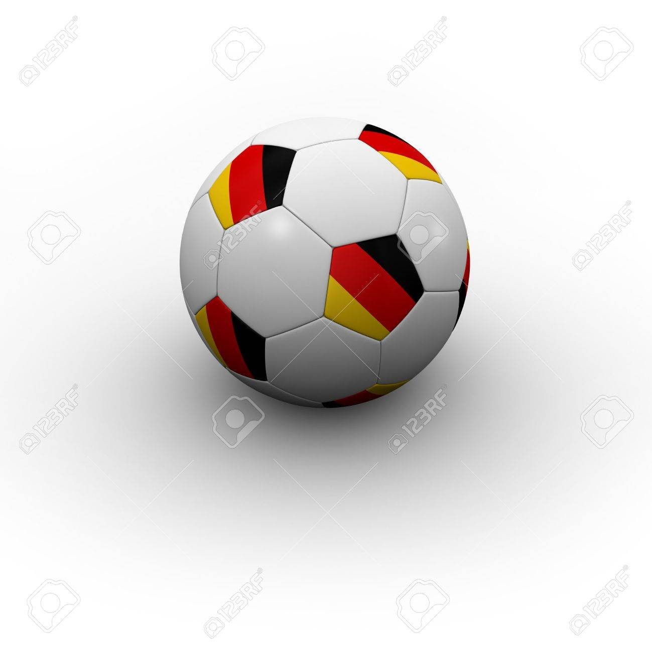 German Soccer Ball - very highly detailed German soccer ball with shadow Stock Photo - 2826543