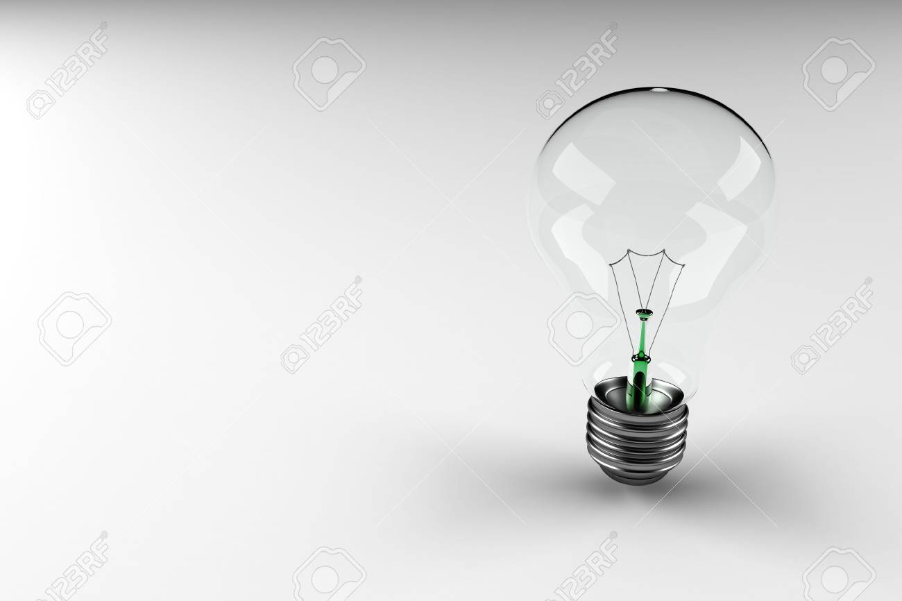 Light bulb with lots of copy space Stock Photo - 2957002