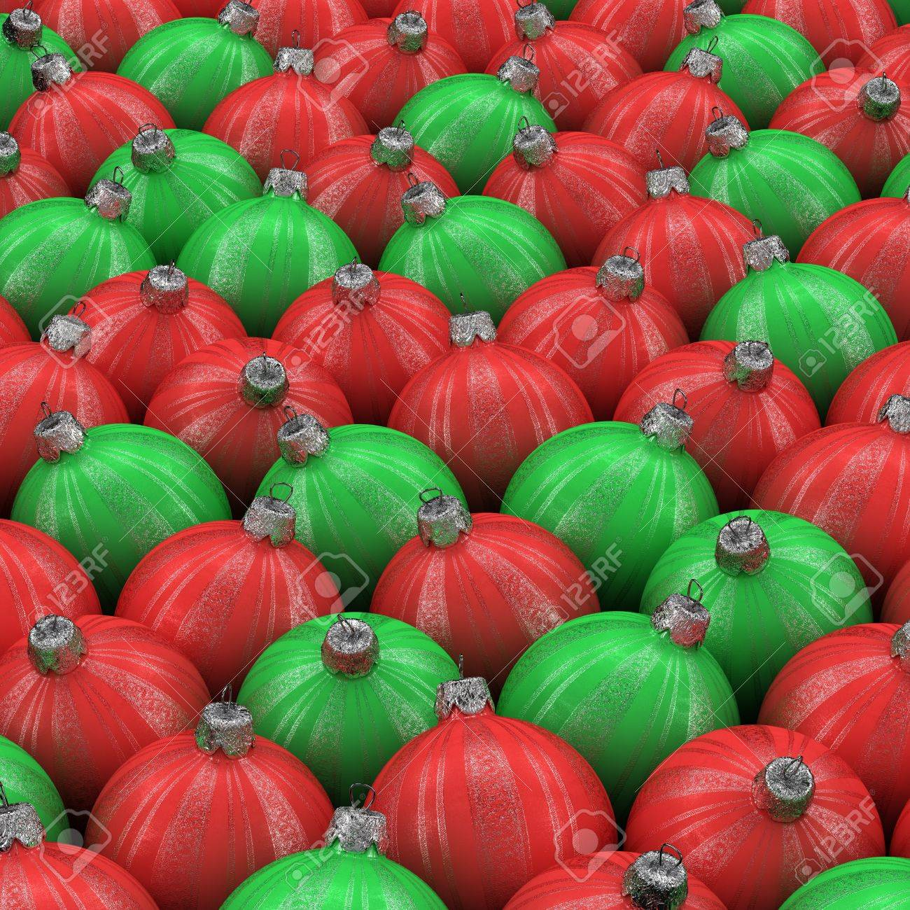 Red green and white christmas ornaments - Green And Red Christmas Ornaments On White Background Stock Photo 7586639