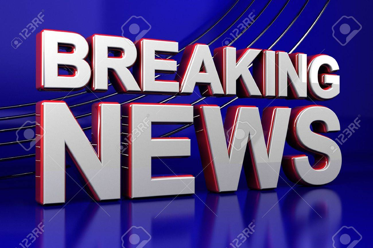 3D illustration of a breaking news TV screen Stock Photo - 15214767