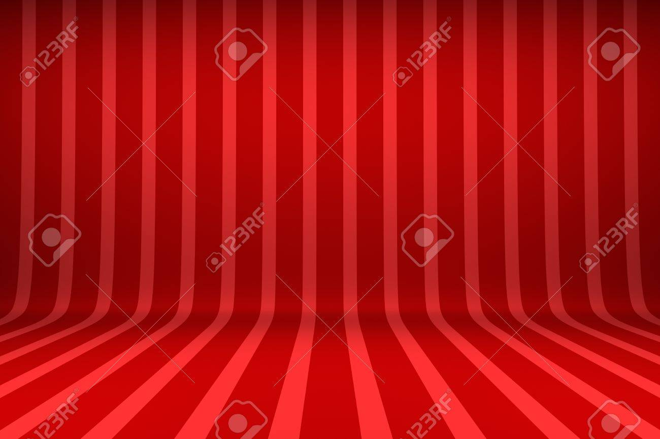 Empty studio with striped backdrop Stock Photo - 15628216