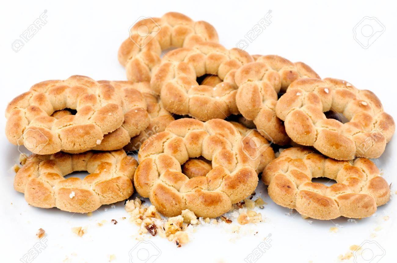 Round tea cookies Stock Photo - 13045097