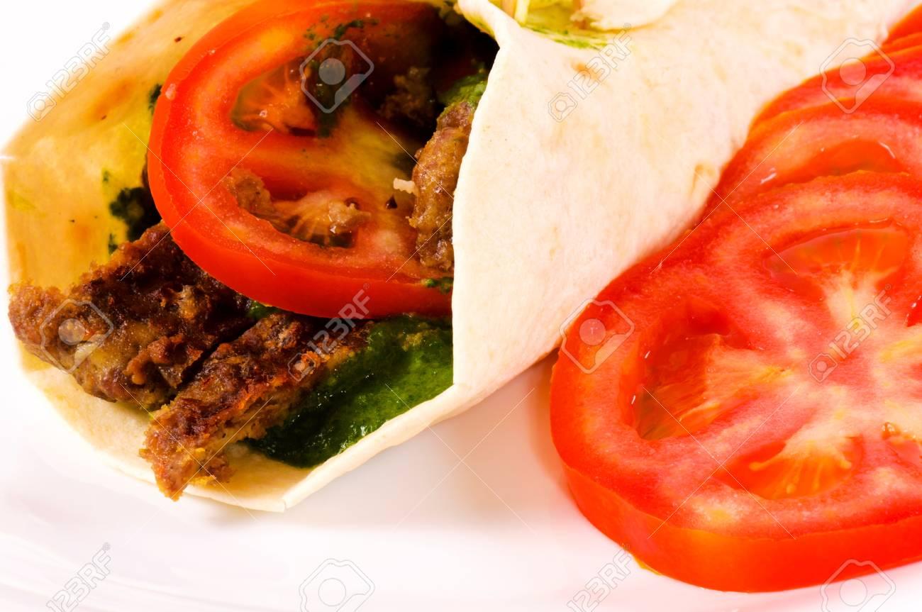 Doner kebab with tomato Stock Photo - 14348165