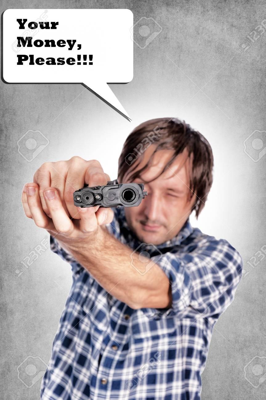 Selective focus on the gun Stock Photo - 16239404