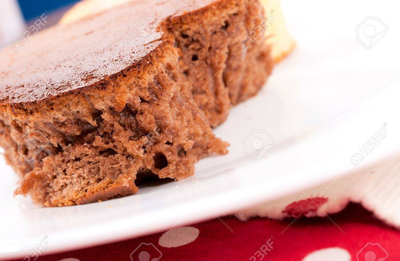 Selective focus on the chocolate dessert Stock Photo - 17294952