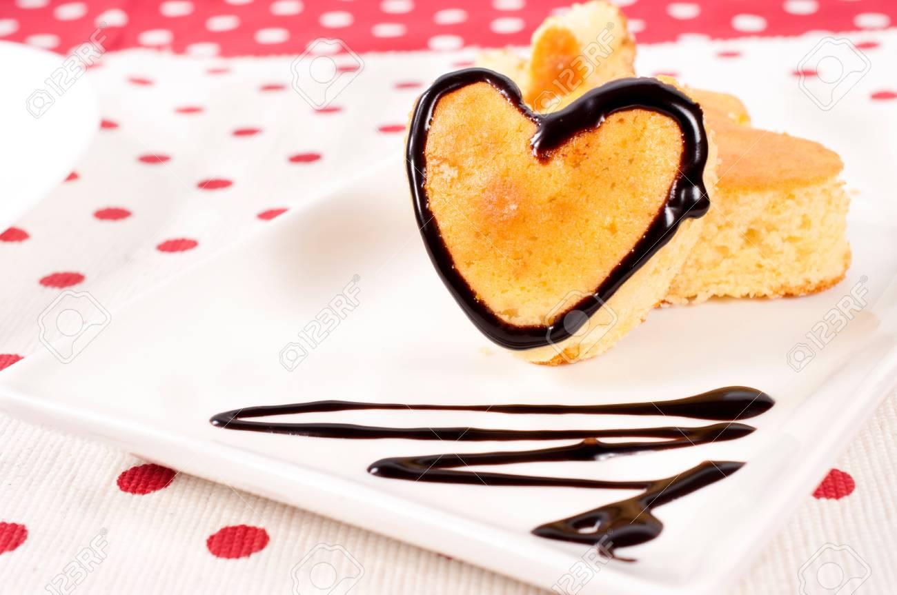 Selective focus on the valentine cake Stock Photo - 17294920