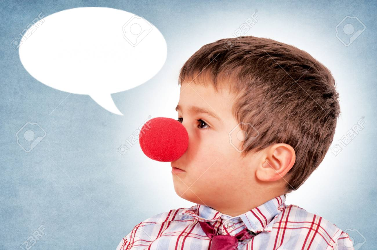 Boy with the clown nose Stock Photo - 17421700