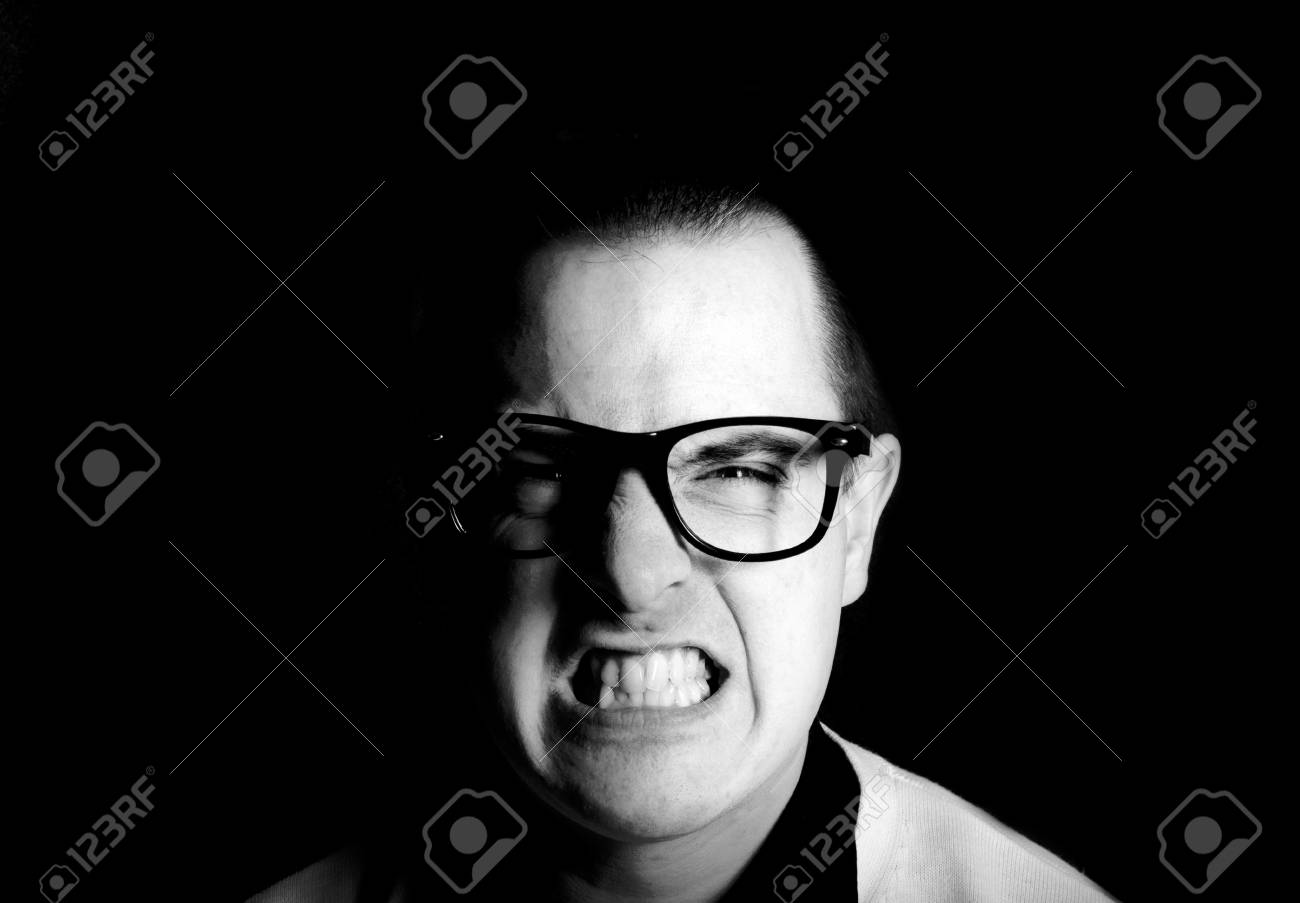 Portrait of angry man shoot in low key technique Stock Photo - 19167720
