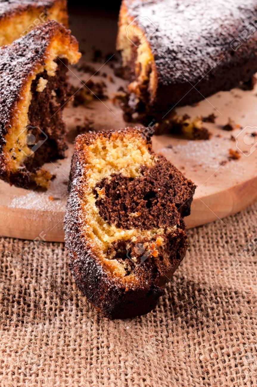 Trocken Kaffee Und Sussen Kuchen Vanila Zum Nachtisch Lizenzfreie