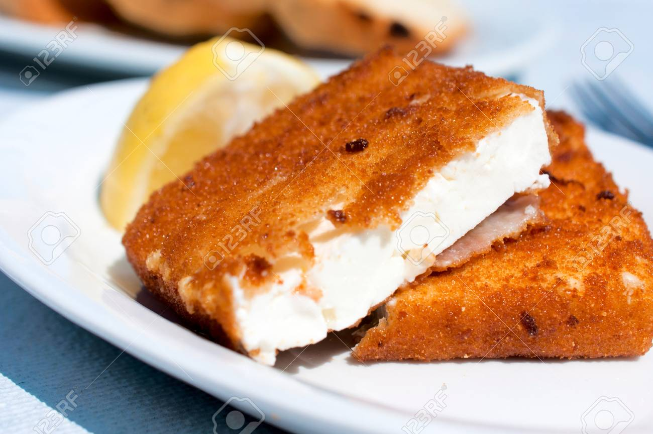 Fried And Melted Feta Cheese On The Plate Stock Photo Picture And Royalty Free Image Image 22073598