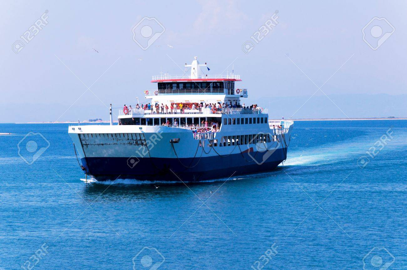 ferry boat on the sea Stock Photo - 22051758