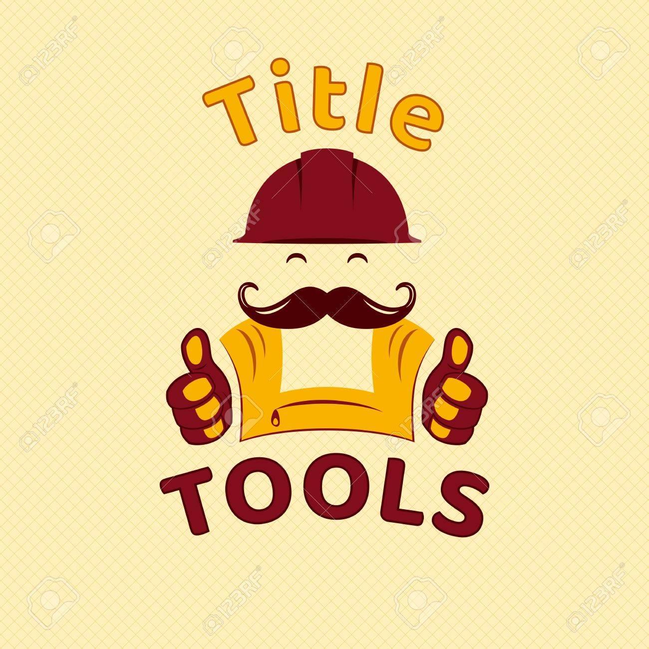tools emblem logo for handyman small business construction