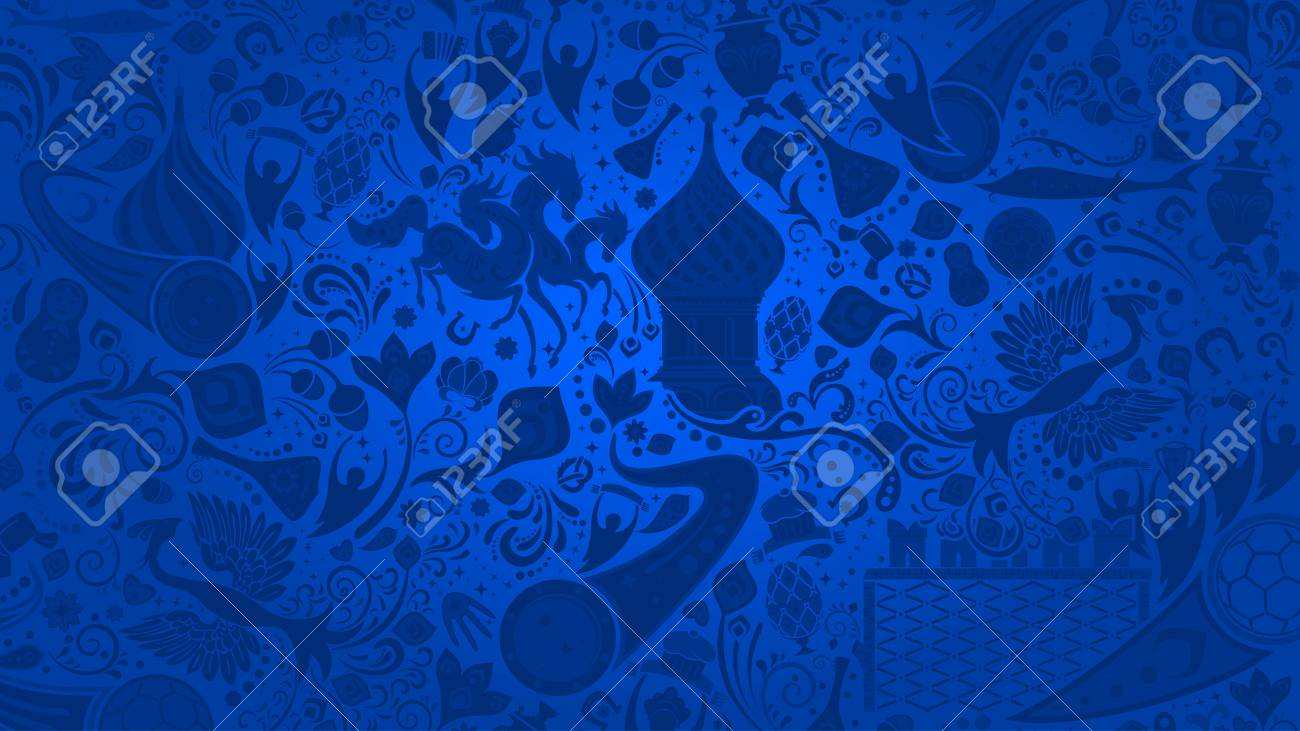 Russian Blue Wallpaper World Of Russia Pattern With Modern And Traditional Elements 2018 Background