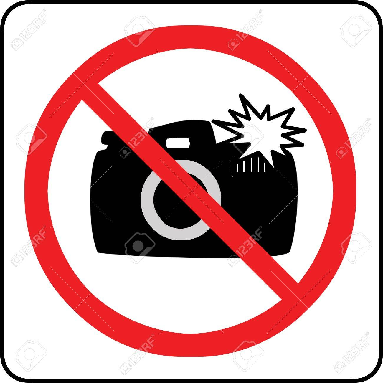 No photography with flash allowed sign Stock Photo - 12008345