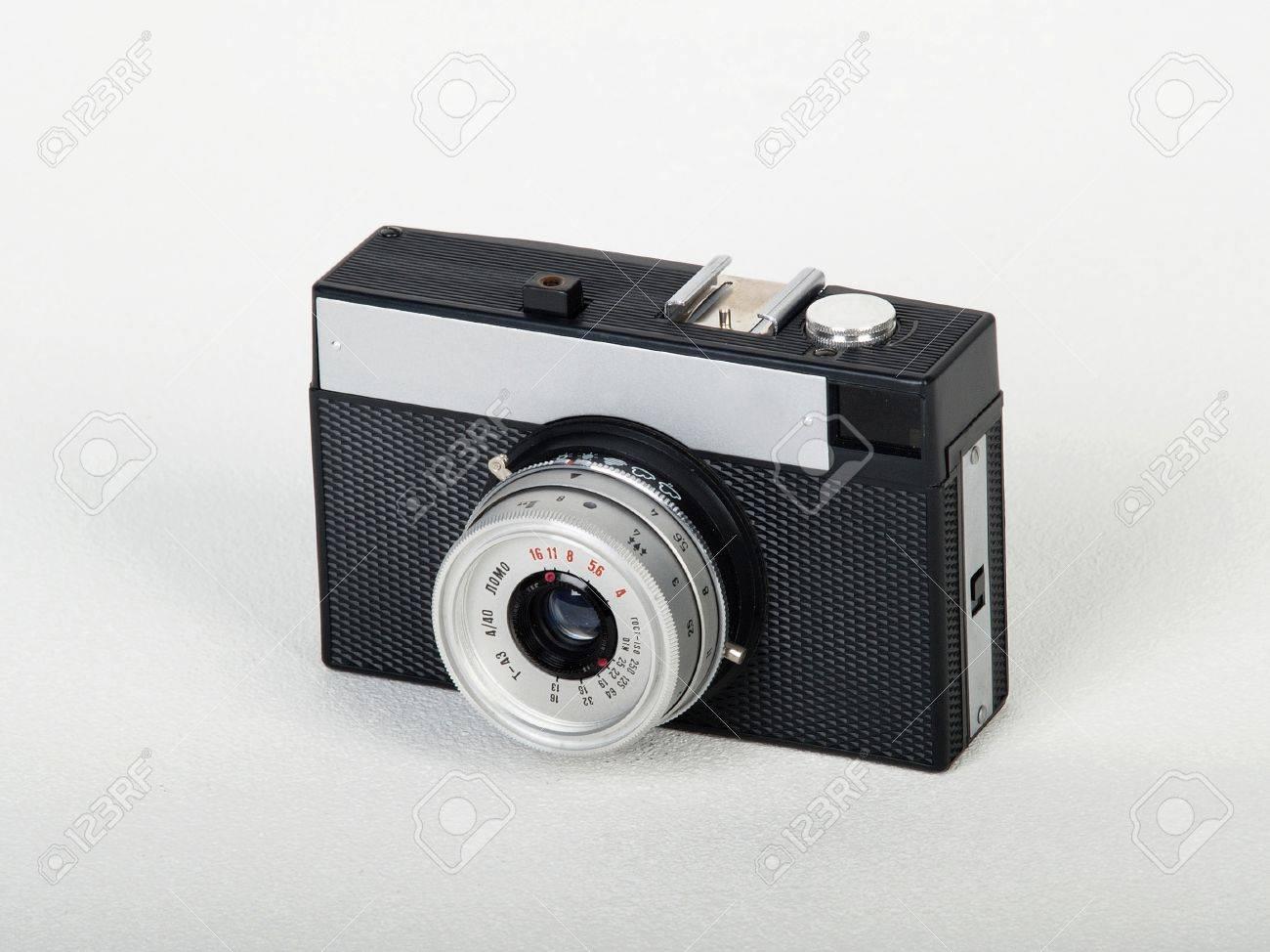 Soviet Lomo Toy Camera Isolated On White Background Stock Photo ...