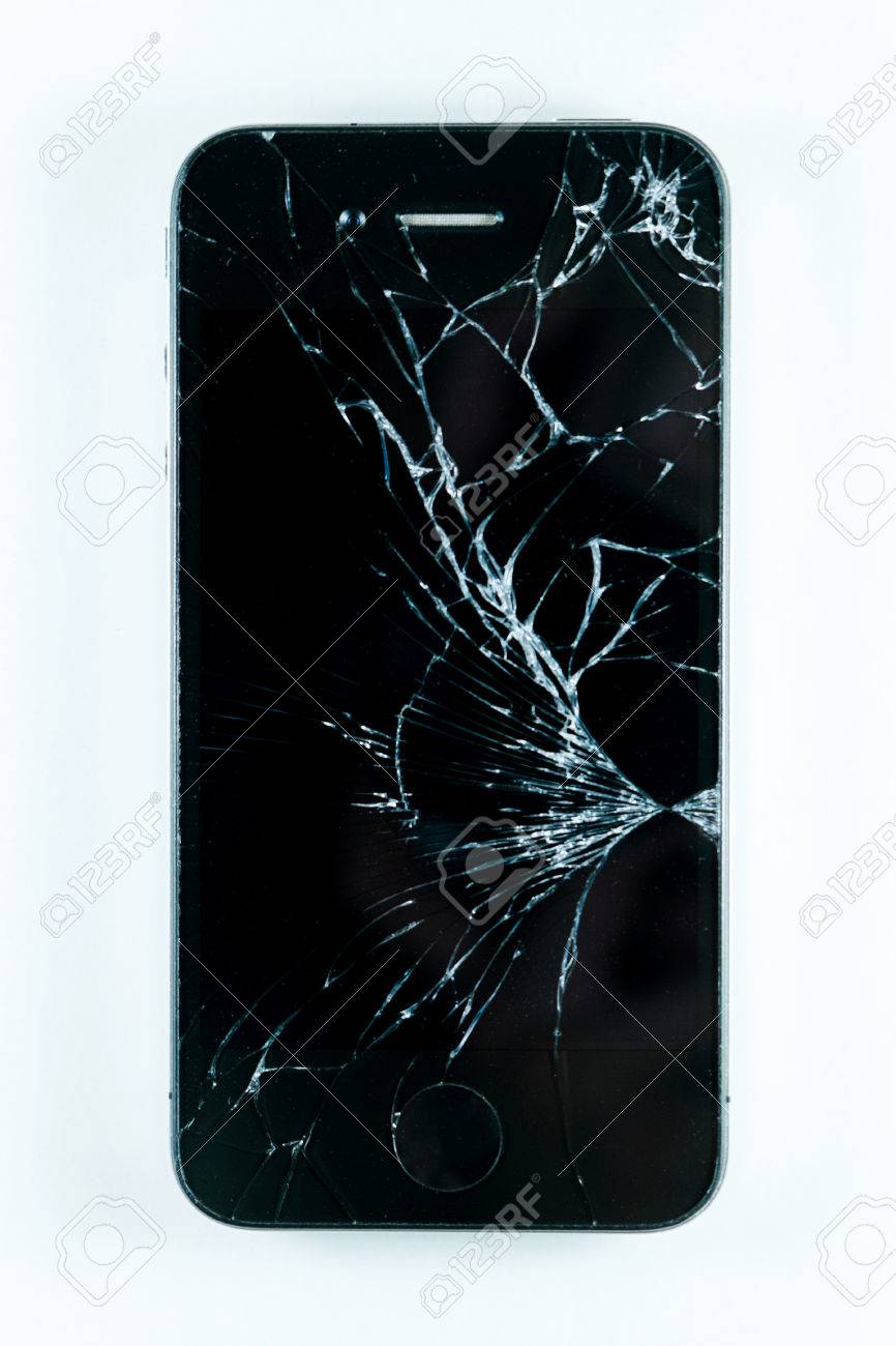 Broken screen mobile smartphone isolated on white background stock broken screen mobile smartphone isolated on white background stock photo 43672954 voltagebd Gallery
