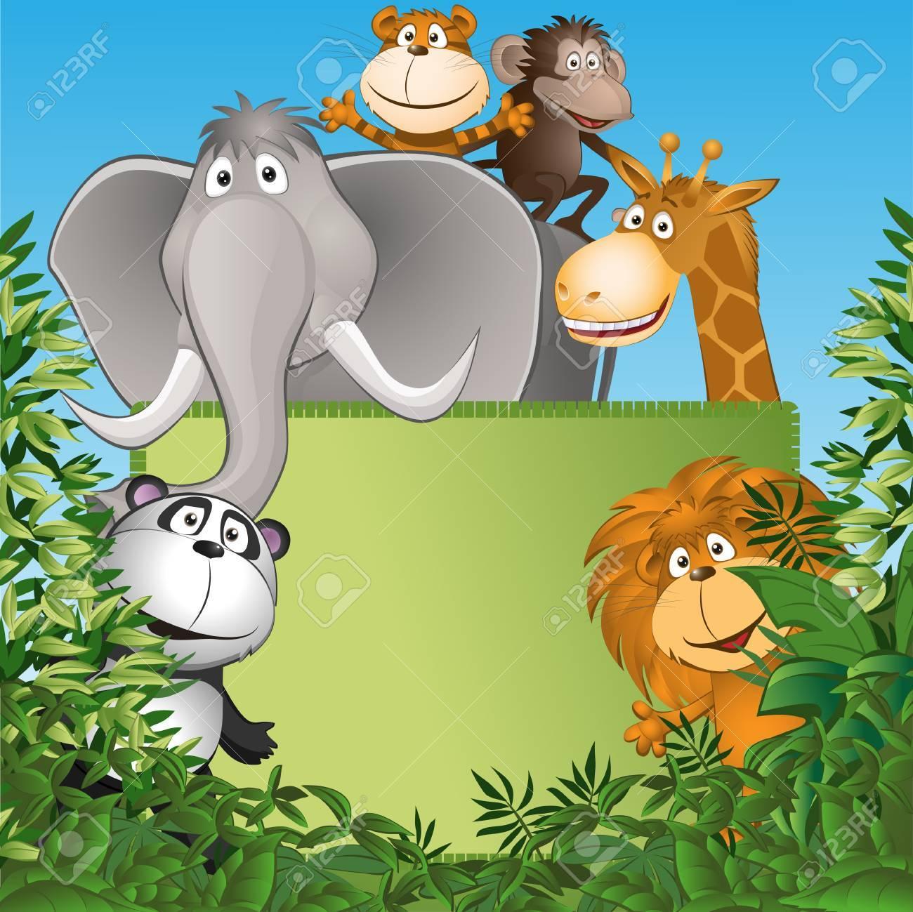 Groupe Des Petits Animaux Droles Illustration Vectorielle Clip Art Libres De Droits Vecteurs Et Illustration Image 25494904