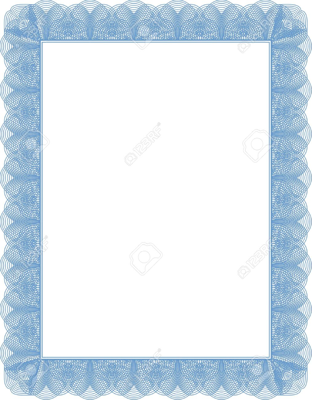 Certificate Diploma Template. Blank Stock Photo, Picture And ...