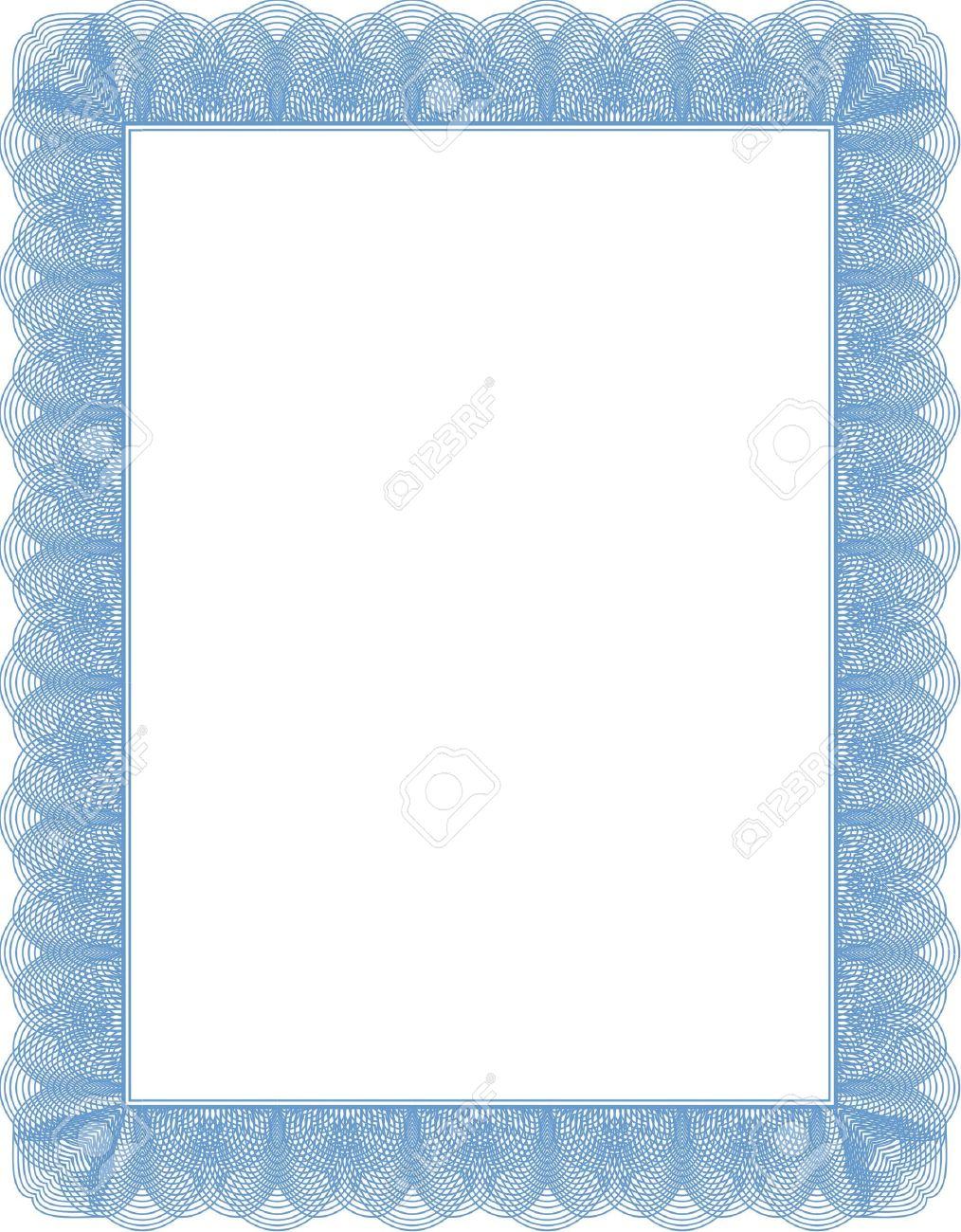 Doc900636 Blank Certificate Template 40 Free – Certificate Template Blank