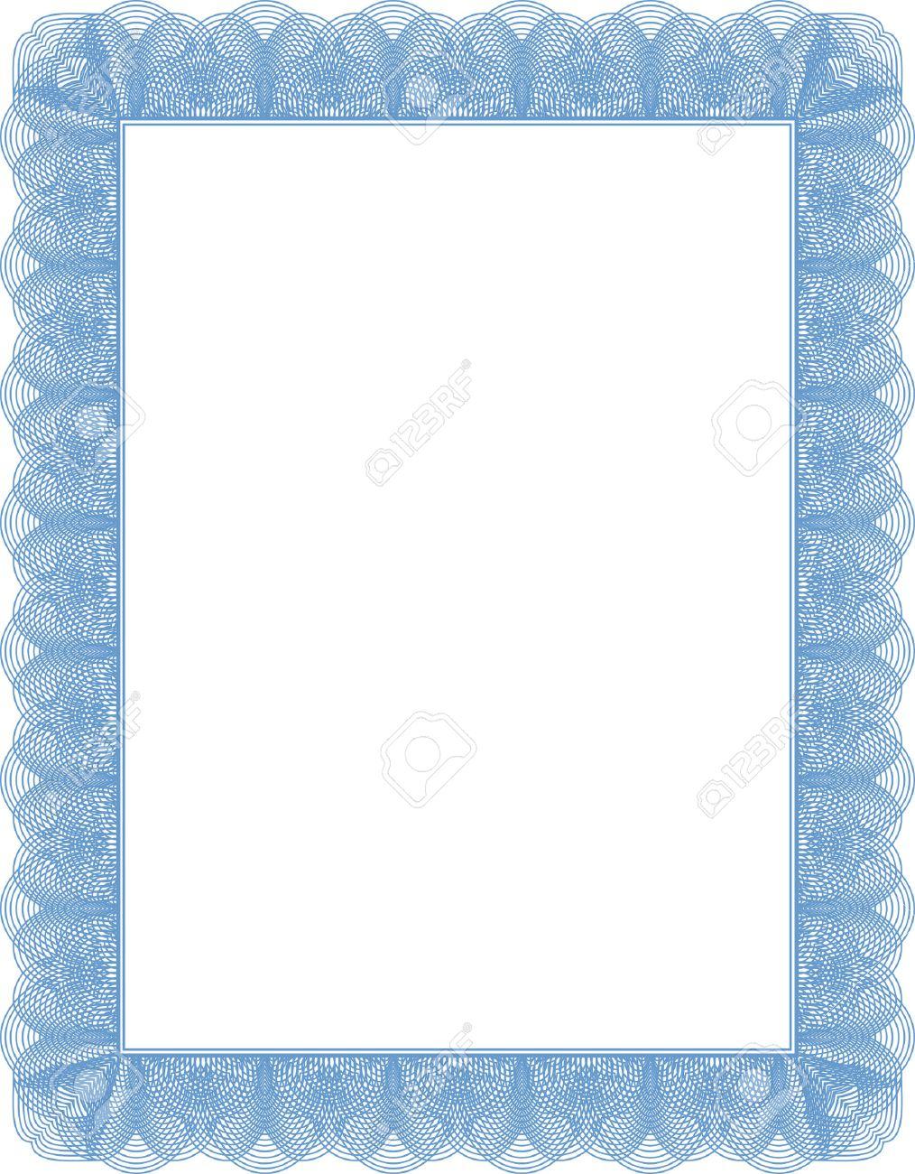 Diplom Zertifikatvorlage, Leere Dokument Fertig Ausgefüllt Werden ...