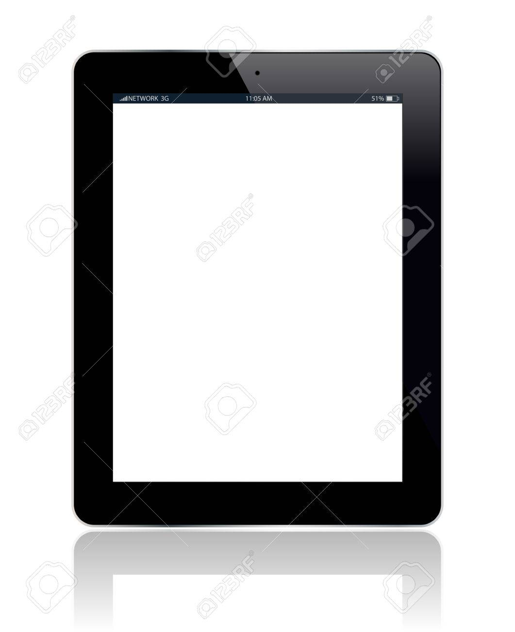 Tablet with blank screen  You can add any picture you want  Vector illustration Stock Vector - 15046943