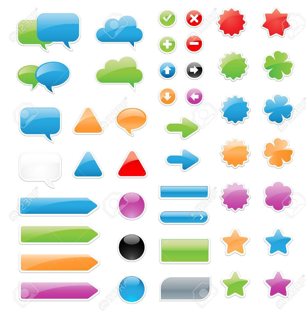 This is a set of customizable label elements and stickers Stock Vector - 15684347