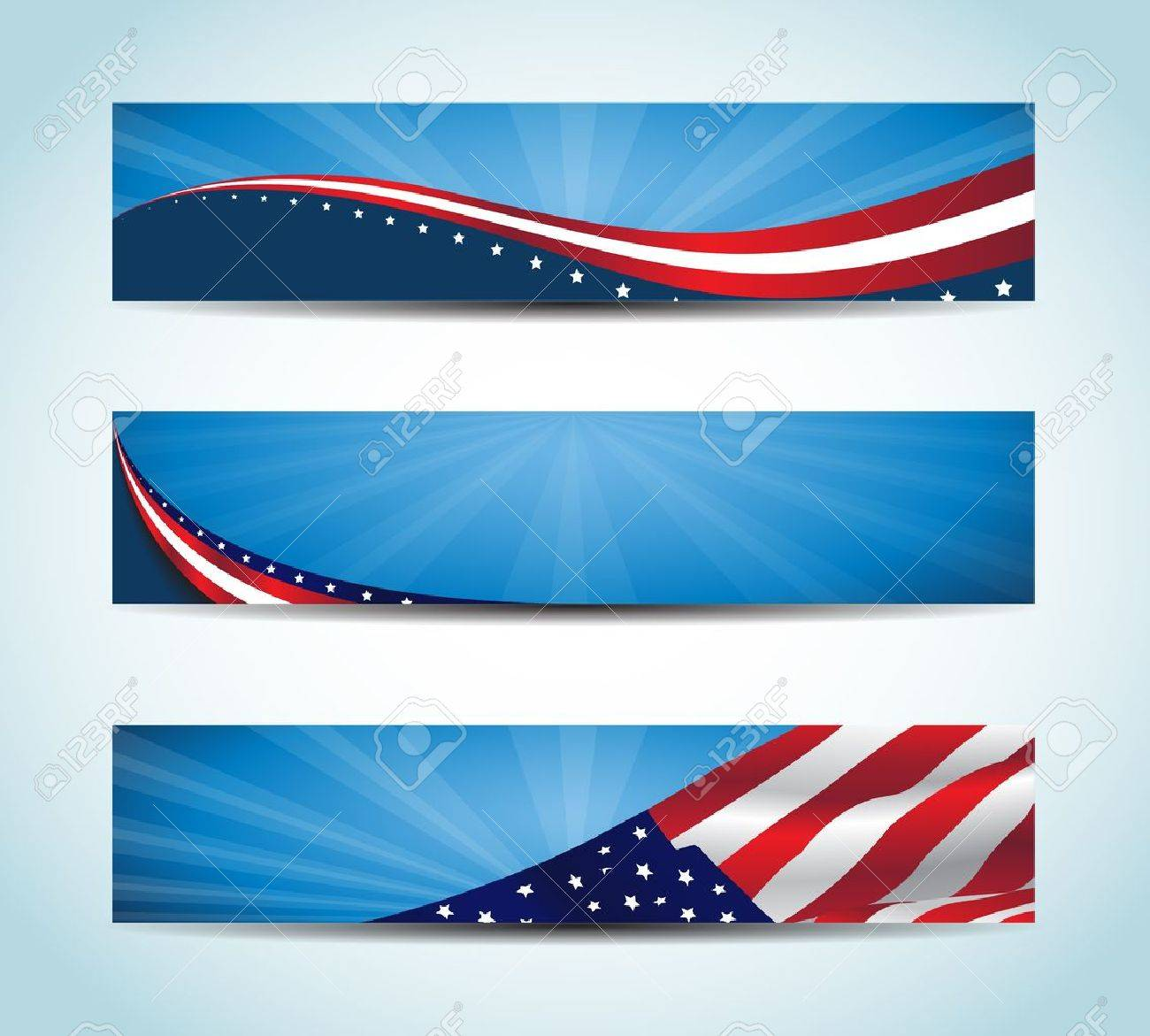 Collection of united states flag conceptual banners    American Banner Stock Vector - 17188461