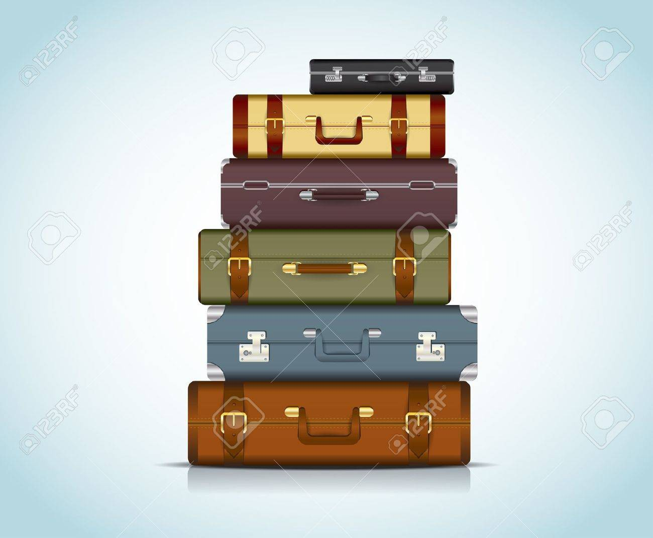 This image is a file representing a collection of travel suitcases Travel Suitcases - 18016706