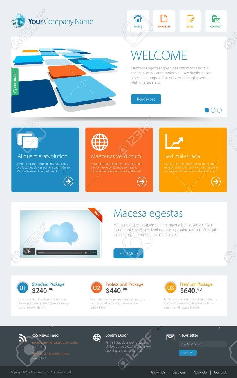 a website template Stock Vector - 20337368