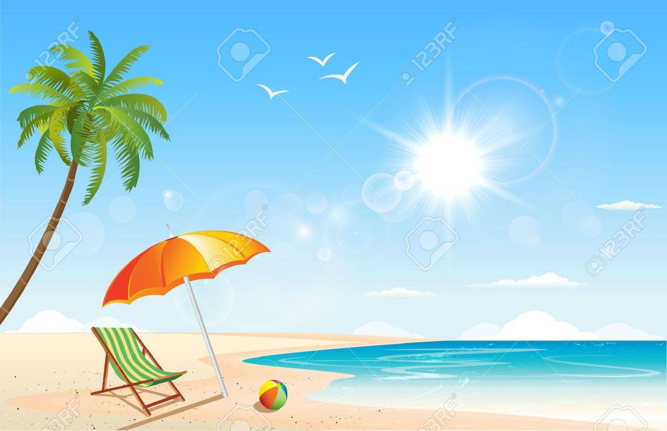 This image is a vector file representing a summer inspired scene. - 21490893