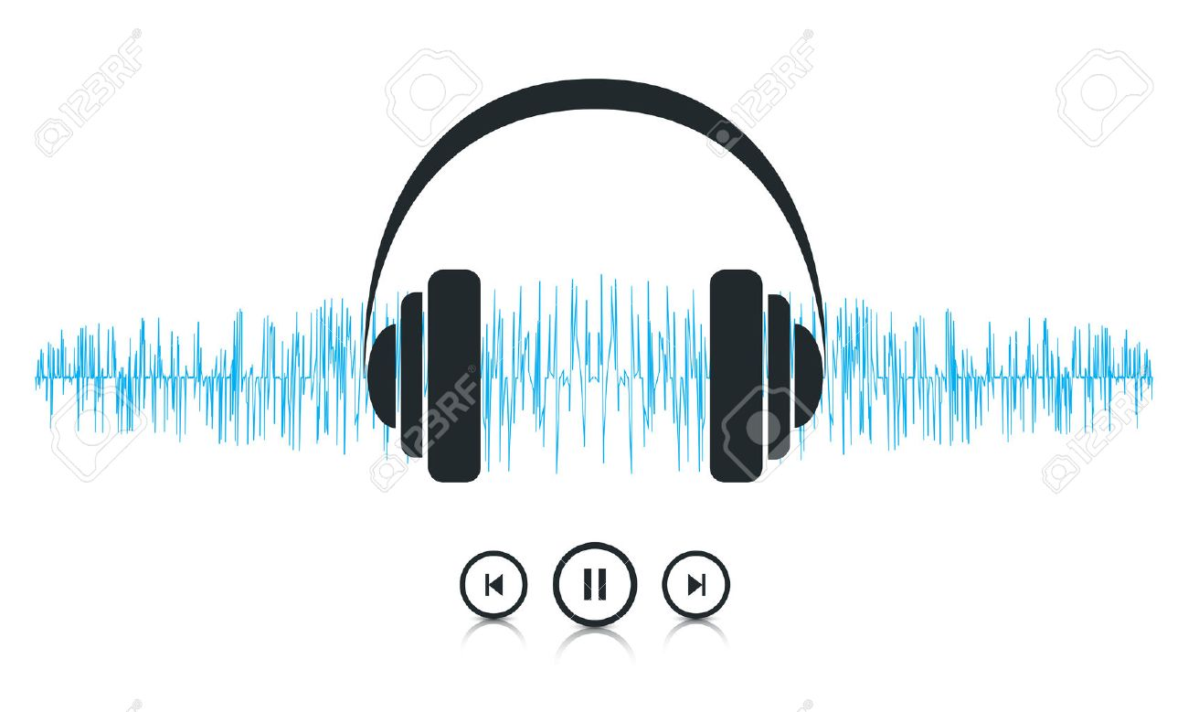 This image is a vector file representing a sound waves music player concept. Stock Vector - 23109328