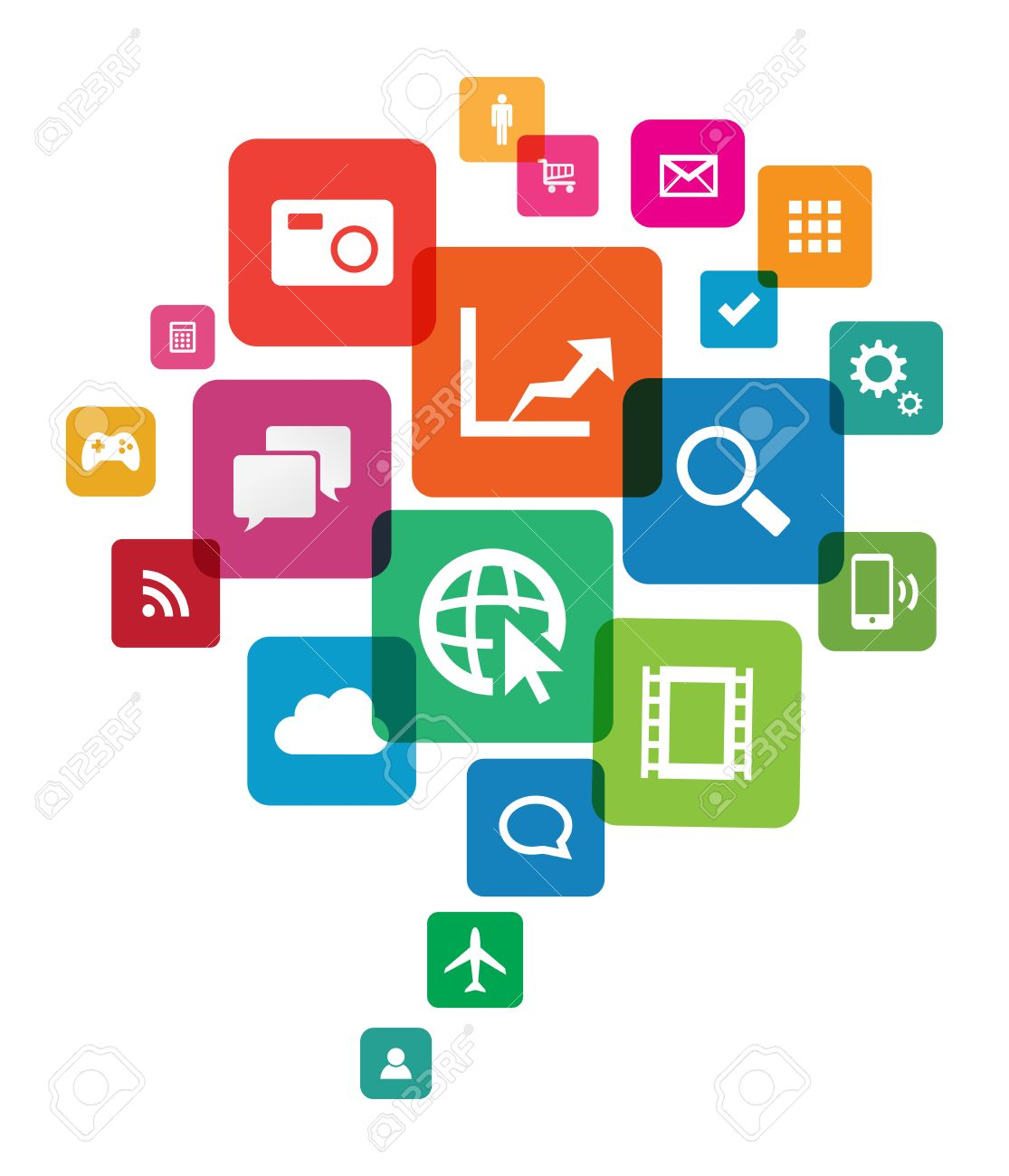 This image is a vector file representing an app cloud technology. Stock Vector - 24755066