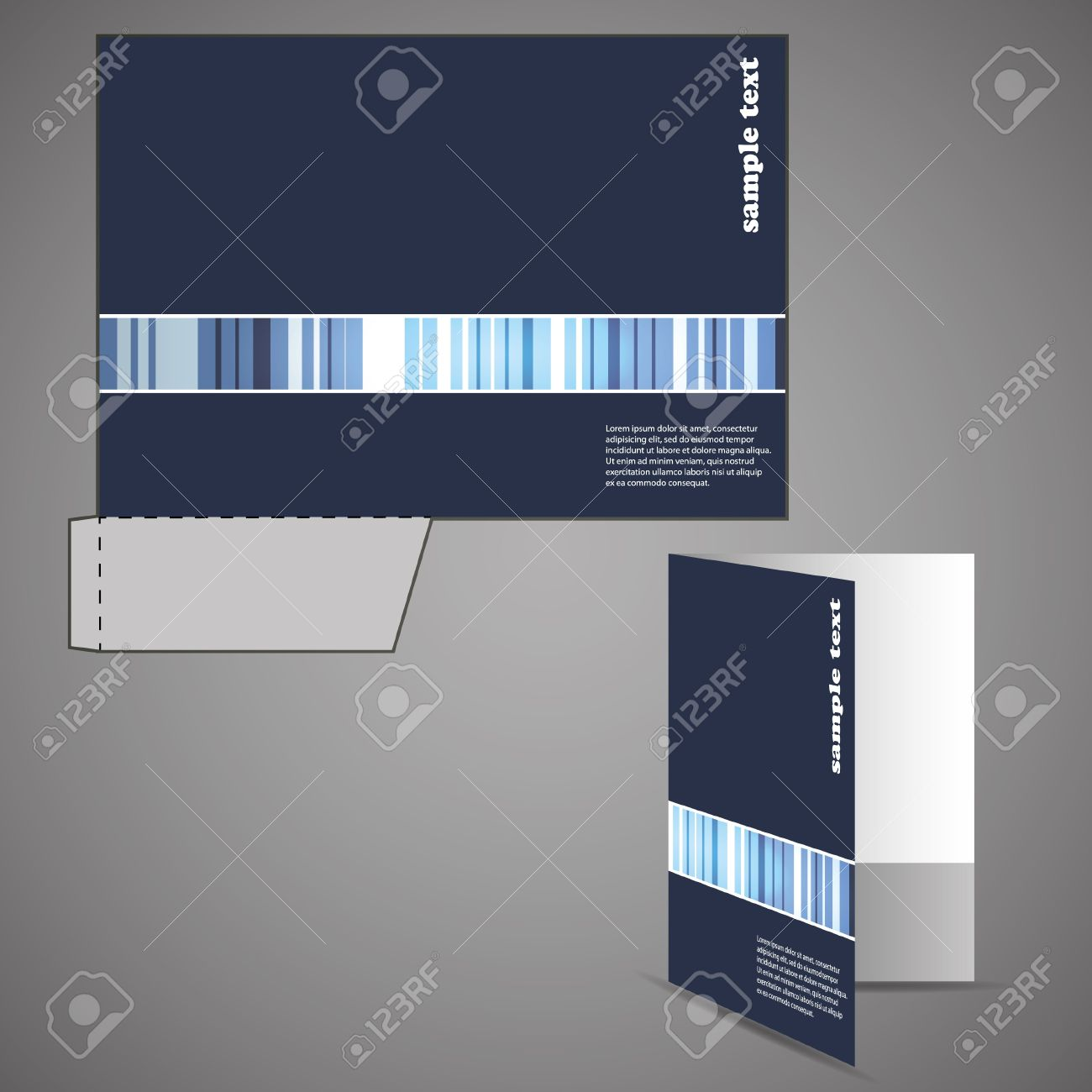 Corporate folder with die cut design Stock Vector - 9897317
