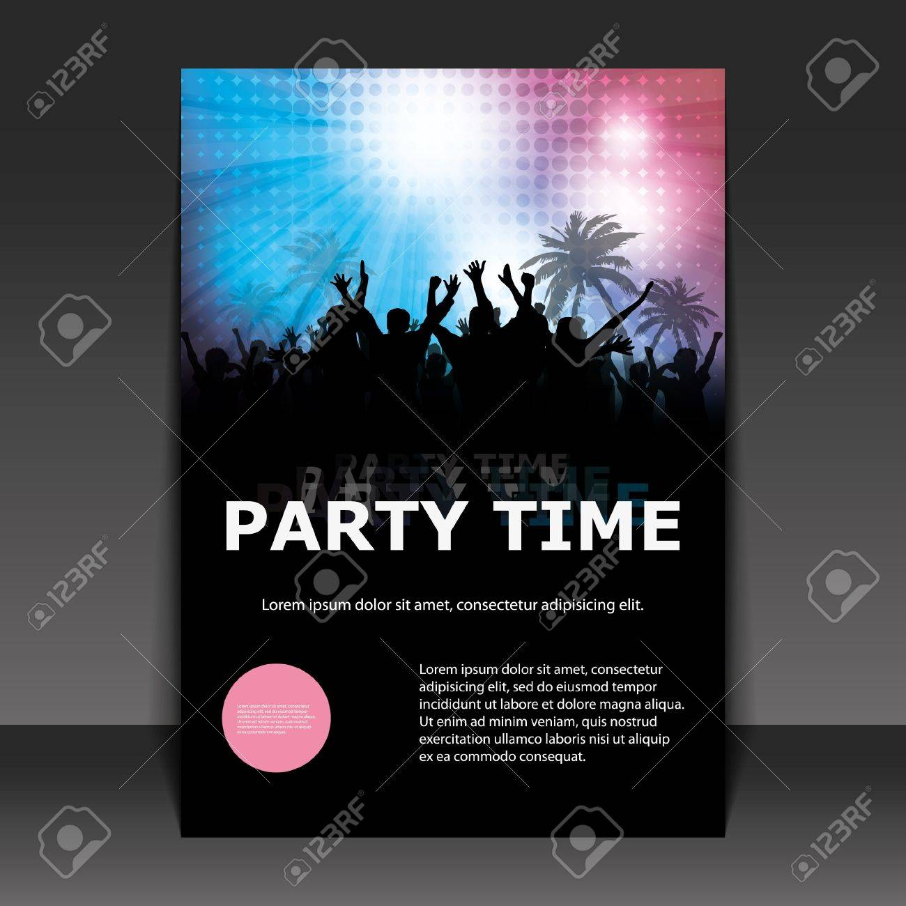 Flyer Design - Party Time Stock Vector - 9933753