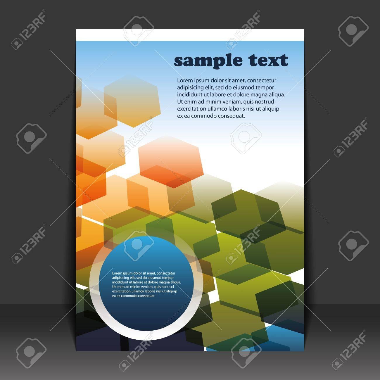 Flyer design Stock Vector - 9933740