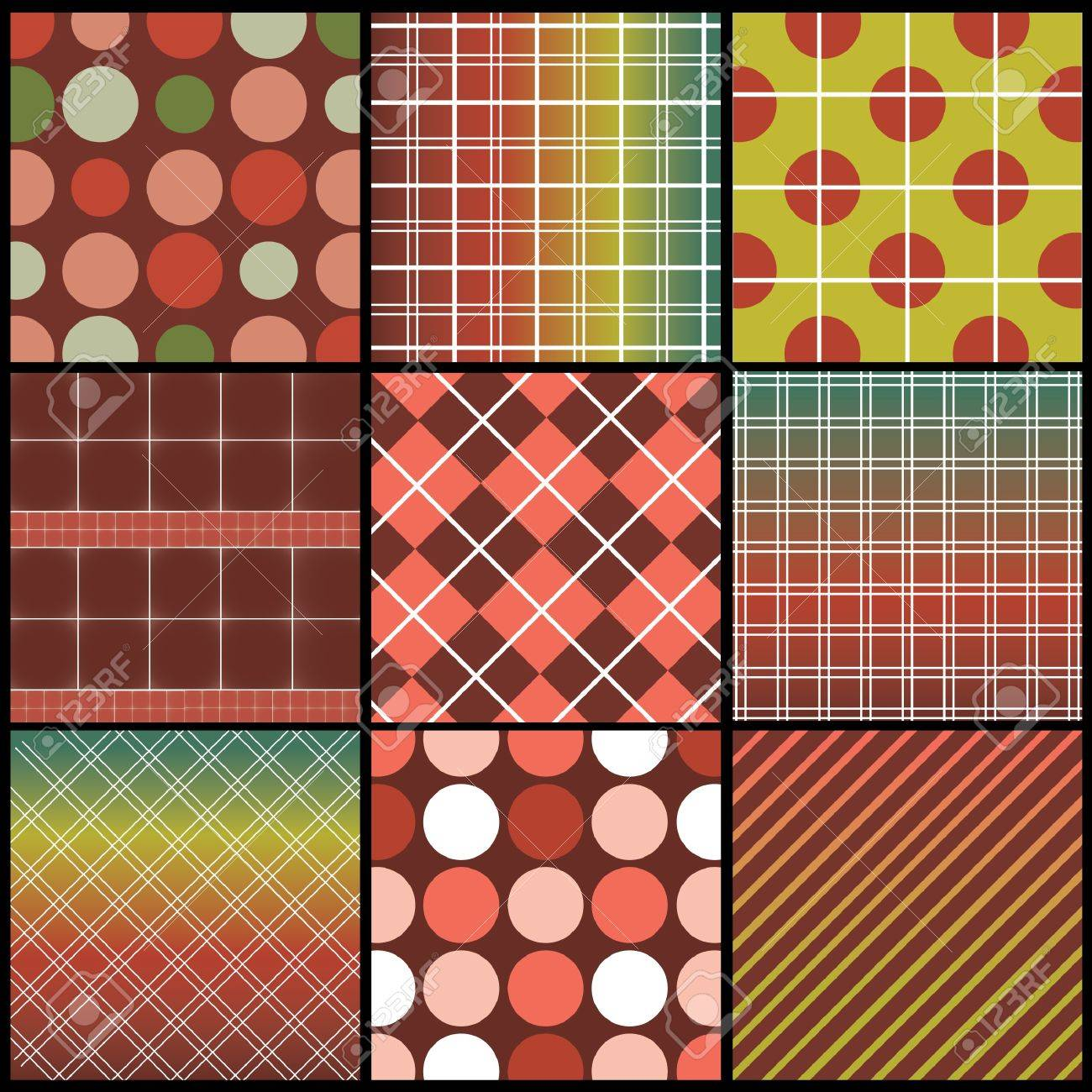 9 Colorful Abstract Backgrounds Stock Vector - 9933790