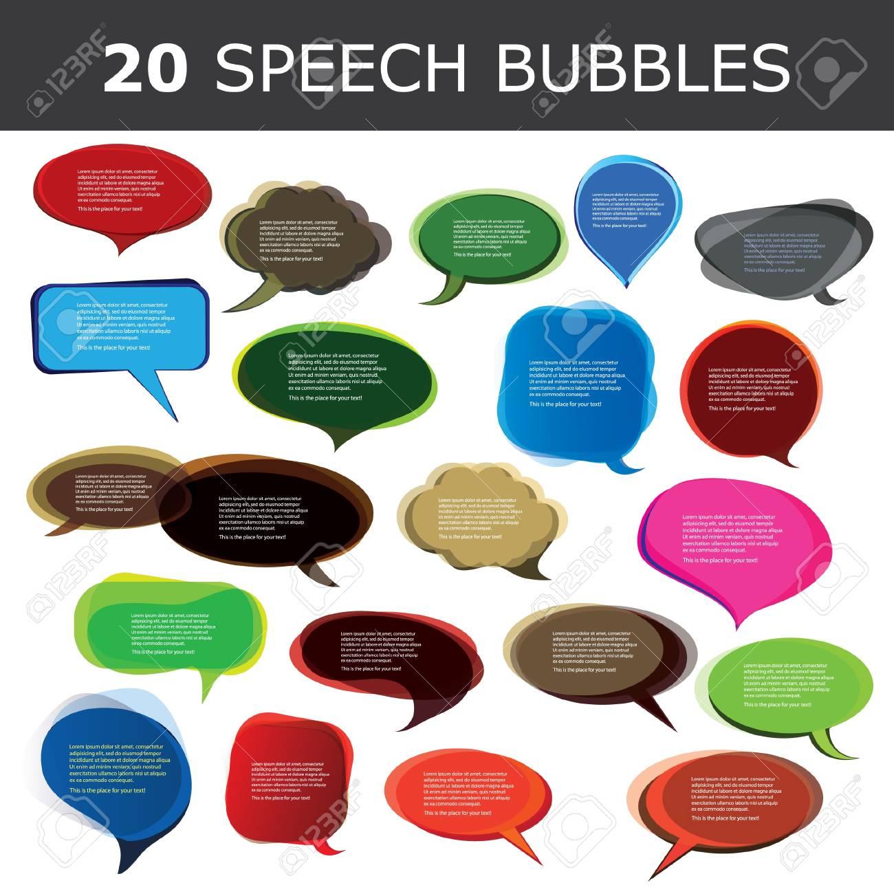 Speech bubble vectors Stock Vector - 10023933