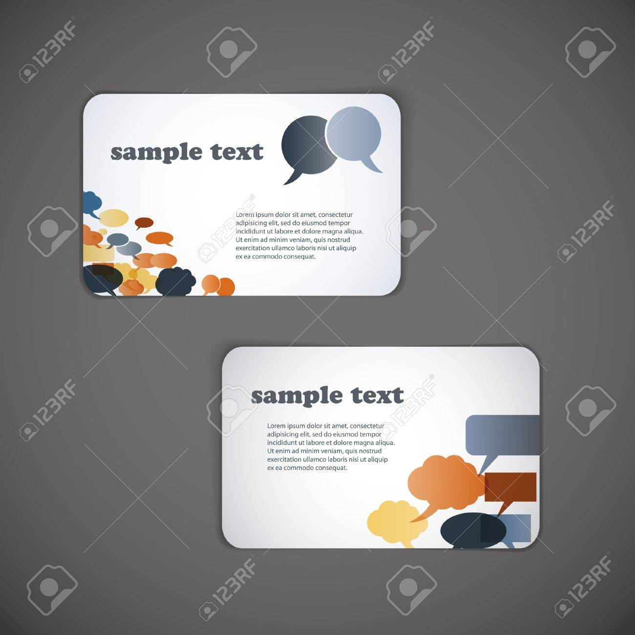 Set of business card templates Stock Vector - 10088109