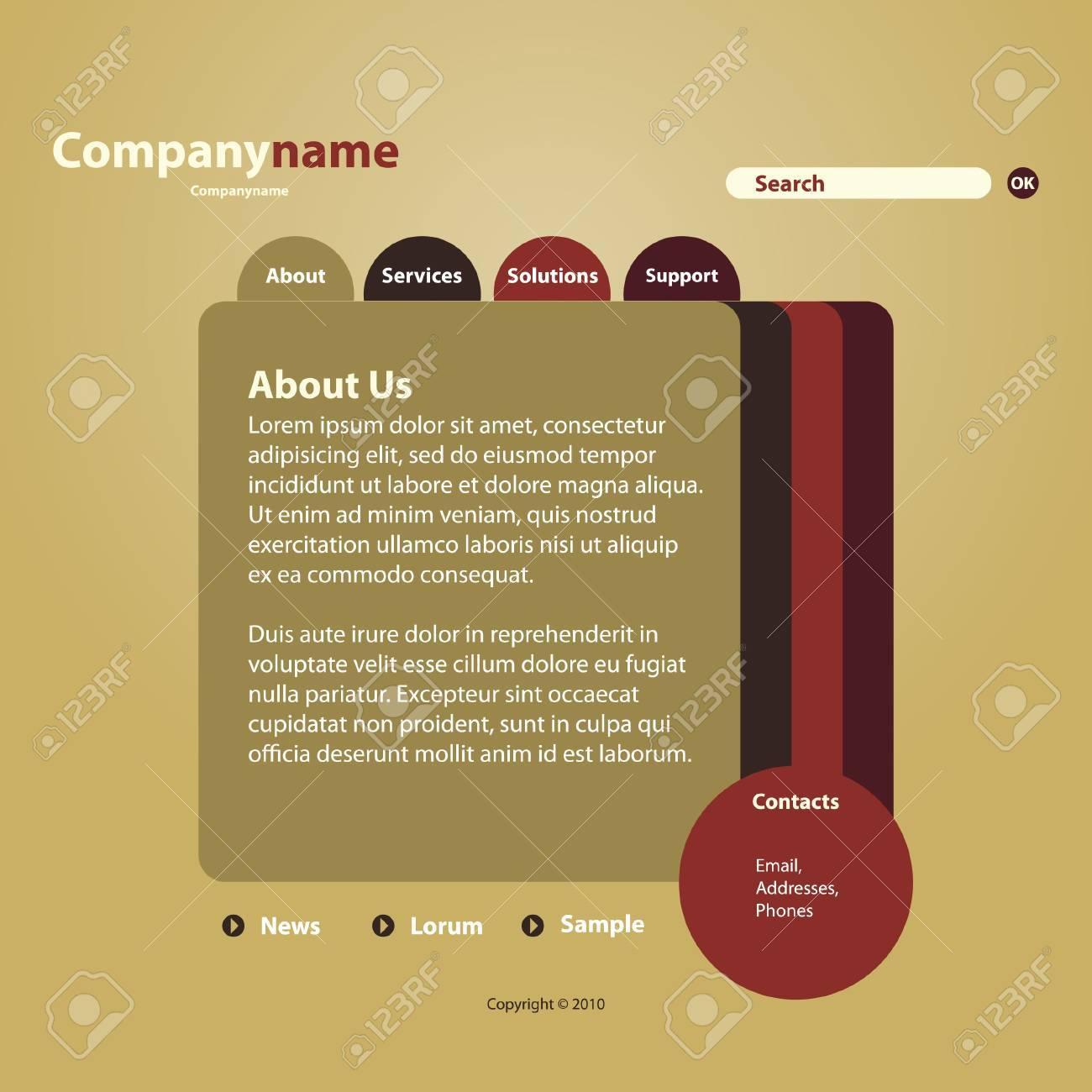 Website Template Stock Vector - 10221384