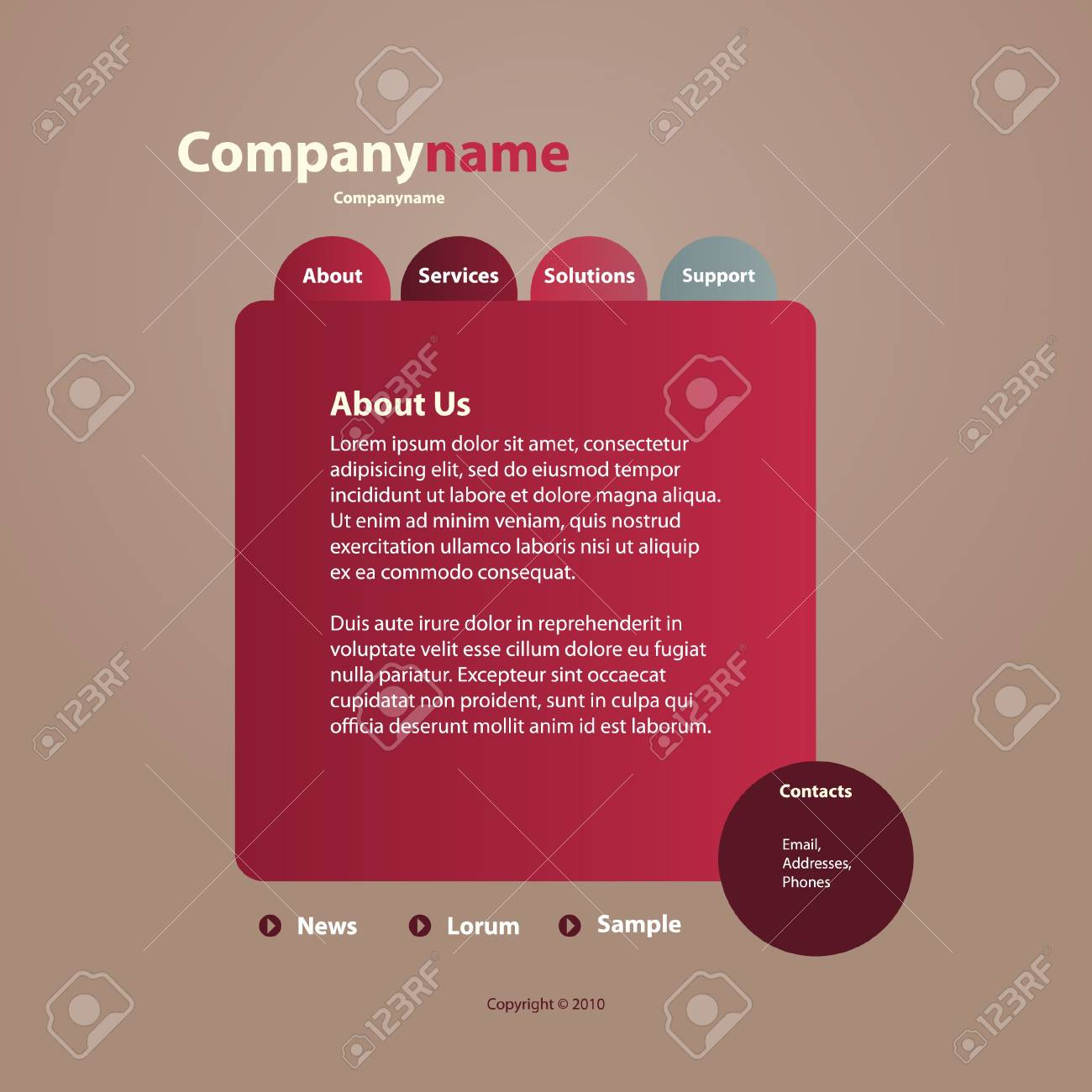 Website Template Stock Vector - 10221383